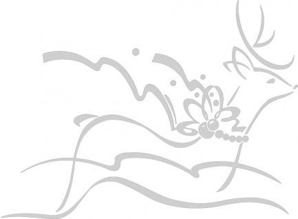 """Wandtattoo/ Dekorfolie mit Motiv """" fliegendes Rentier"""" Ø 90cm Länge max.100 cm, in 11 Farben WD0802 silber"""