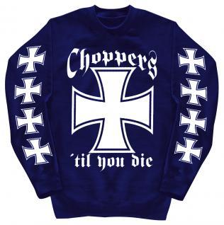 Sweatshirt mit Print - Choppers - 10116 - versch. farben zur Wahl - blau / 4XL