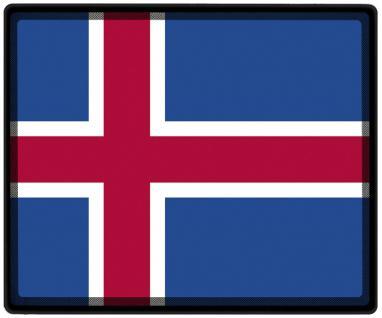 Mousepad Mauspad mit Motiv - Island Fahne Fußball Fußballschuhe - 82068 - Gr. ca. 24 x 20 cm