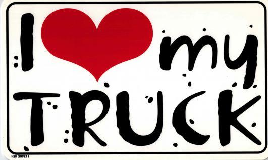 Spass - Schild - I LOVE MY TRUCK - Gr. 25x15 cm - 309211