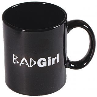 Motivtasse mit Print Badgirl 57156 schwarz