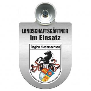 Einsatzschild Windschutzscheibe incl. Saugnapf - Landschaftsgärtner im Einsatz - 309375 - Region Niedersachsen