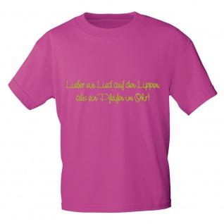 T-Shirt mit Print - Lieber ein Lied auf den Lippen .. - 10856 sorbet Gr. S-XXL