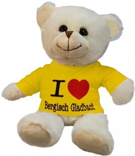 Plüsch - Teddybär mit Shirt - I Love Bergisch Gladbach - 27074 - Größe ca 26cm