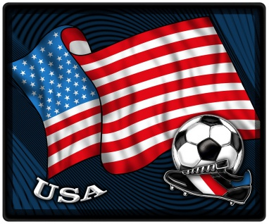 Mousepad Mauspad mit Motiv - USA Fahne Fußball Fußballschuhe - 83180 - Gr. ca. 24 x 20 cm