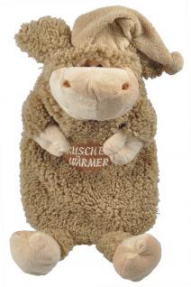 Wärmflasche Schaf Wollschäfchen mit Einstickung Kuschelwärmer 39310 braun