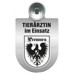 Einsatzschild für Windschutzscheibe incl. Saugnapf - Tierärztin im Einsatz - 309474-19 - Region Preussen