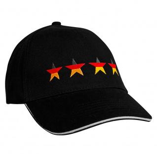 Baseballcap mit Einstickung Deutschland 4 Sterne 68179 schwarz