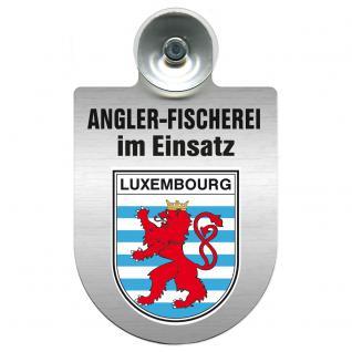 Einsatzschild Windschutzscheibe incl. Saugnapf - Angler-Fischerei im Einsatz - 309373-21 - Region Luxembourg