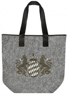 Filztasche Shopper mit Einstickung - BAYERN LÖWEN WAPPEN - 26010 - Tasche Umhängetasche Shopper Bag