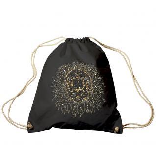 Trend-Bag Turnbeutel Sporttasche Rucksack mit Glitzer-Strass-Veredelung TB 12895