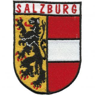 AUFNÄHER - Wappen - SALZBURG - 00468 - Gr. ca. 6 x 8 cm - Patches Stick Applikation