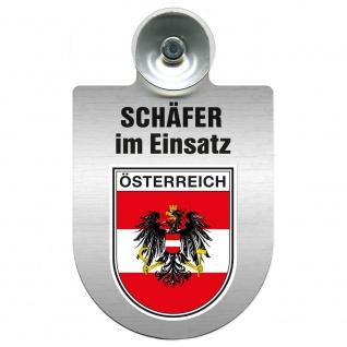 Einsatzschild Windschutzscheibe incl. Saugnapf - Schäfer im Einsatz - 309387 - Region Österreich