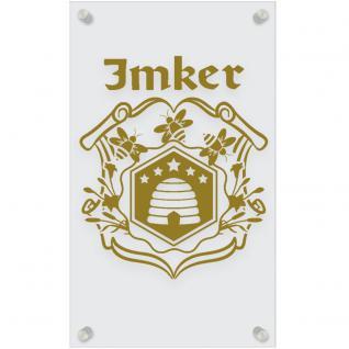 Zunftschild Acryl-Kunststoffplatte - IMKER - 309455 versch. Farben - gold