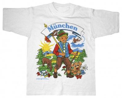 Kinder-T-Shirt mit Print - München - 06957 weiß - Gr. 152/164
