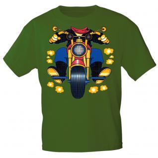 Kinder Marken-T-Shirt mit Motivdruck in 13 Farben Motorrad K12780 grün / 134/146