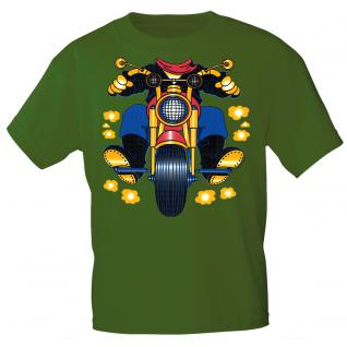 Kinder Marken-T-Shirt mit Motivdruck in 13 Farben Motorrad K12780 grün / 152/164
