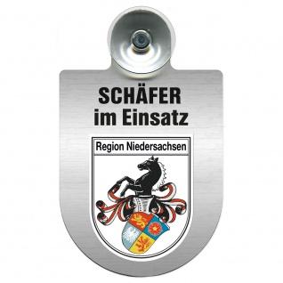 Einsatzschild Windschutzscheibe incl. Saugnapf - Schäfer im Einsatz - 309387 - Region Niedersachsen