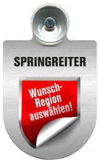Einsatzschild Windschutzscheibe incl. Saugnapf - Springreiter im Einsatz - 309380- Regionen nach Wahl