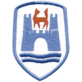 AUFNÄHER - Wappen - Wolfsburg - 00398 - Gr. ca. 7 x 4, 5 cm - Patches Stick Applikation
