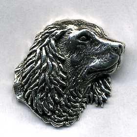 Anstecknadel - Metall - Pin - Hundekopf Hund - 02714