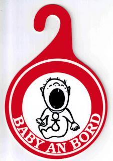 """(308044) Pst- Schild """" Baby An Bord"""" Gr. 15 X 10 Cm - Vorschau"""
