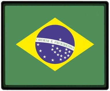 Mousepad Mauspad mit Motiv - Brasilien Fahne - 82029 - Gr. ca. 24 x 20 cm