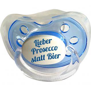 Babyschnuller mit Aufdruck Lieber Prosecco statt Bier 78801