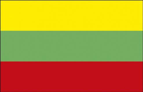 Stockländerfahne - Litauen - Gr. ca. 40x30cm - 77095 - Flagge Länderfahne Schwenkfahne