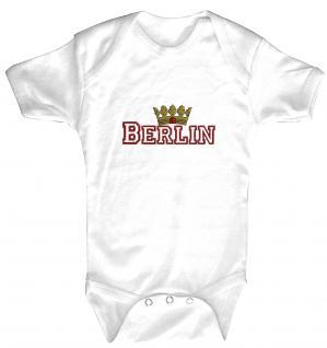 """(12737-weiß) Baby-Body mit Druckmotiv """" Berlin"""""""