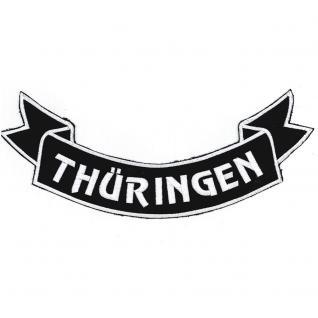 Aufnäher Rückenaufnäher - Thüringen - 07356/4 Gr. ca. 28 x 11 cm - Patches Stick Applikation