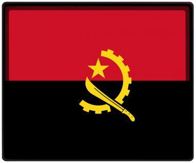 Mousepad Mauspad mit Motiv - Angola Fahne Fußball Fußballschuhe - 82012 - Gr. ca. 24 x 20 cm