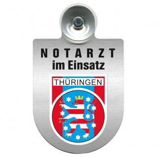 Einsatzschild Windschutzscheibe incl. Saugnapf - Notarzt im Einsatz - 309353 Region Thüringen