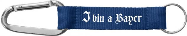 Karabiner-Schlüsselanhänger mit Druck - I BIN A BAYER - Gr. ca. 16 x 2cm - Keyholder - 13409 - Vorschau