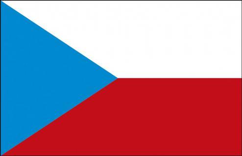 Länder-Flagge - Tschechien - Gr. ca. 40x30cm - 77172 - Fahne, Flagge, Stockländerfahne