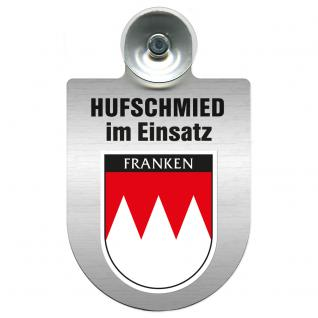 Einsatzschild Windschutzscheibe incl. Saugnapf - Hufschmied im Einsatz - 309391-18 - Region Franken