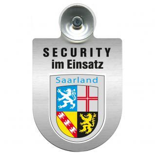 Einsatzschild Windschutzscheibe - Security im Einsatz - incl. Regionen nach Wahl - 309350 Region Saarland
