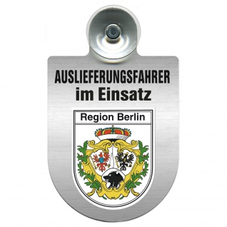 Einsatzschild Windschutzscheibe incl. Saugnapf - Auslieferungsfahrer im Einsatz - 309365 Region Bremen