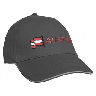 Baseballcap mit Einstickung Fahne Flagge Austria Österreich 68012 versch. Farben