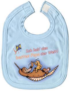 Baby-Lätzchen mit Druckmotiv - bester Papa der Welt - 08430 - hellblau