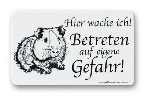 Spaßschild - MEERSCHWEINCHEN... Betreten auf eigene Gefahr! - 308521 - Gr. 25cm x 15cm