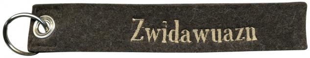 Filz-Schlüsselanhänger mit Stick Zwidawuazn Gr. ca. 19x3cm 14007 schwarz