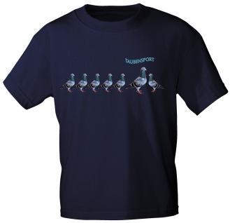 T-Shirt mit Printmotiv - Taubensport - TB159 dunkelblau - Gr. S-2XL