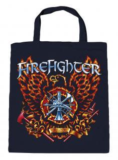 Umweltfreundliche Baumwolltasche mit Aufdruck - Firefighter - 12384