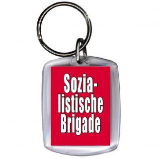Keyholder Schlüsselanhänger - DDR BRIGADE - Gr. ca. 3x4cm - 03385 -