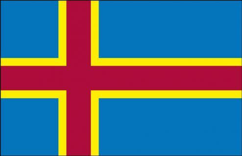 Stockländerfahne - Aland-Island - Gr. ca. 40x30cm - 77007 - Dekoflagge