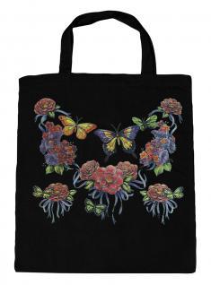 (U09943)Umweltfreundliche Baumwoll - Tasche , ca. 28 x 43 cm mit Aufdruck in 7 Farben schwarz