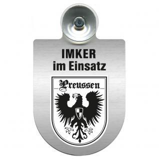 Einsatzschild Windschutzscheibe incl. Saugnapf - Imker im Einsatz - 309382-0-19 - Region Preussen