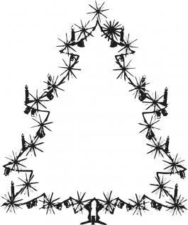 Wandtattoo Dekorfolie Weihnachtsbild Weihnachtsbaum Tannenbaum WD0810 - schwarz / 90cm