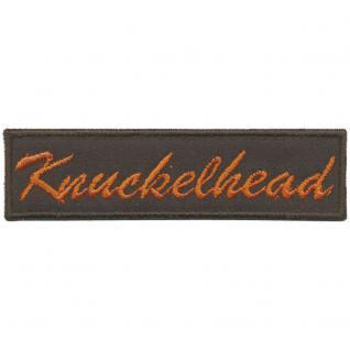 AUFNÄHER - Knuckelhead - 01936 - Gr. ca. 9 x 2cm - Patches Stick Applikation